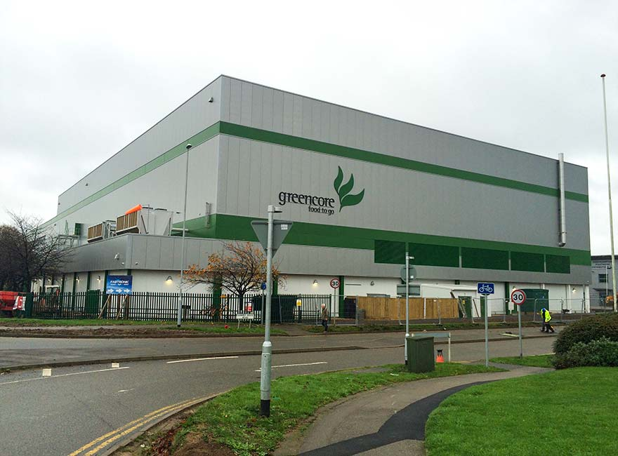 Hickton Construction cladding and roofing at Greencore