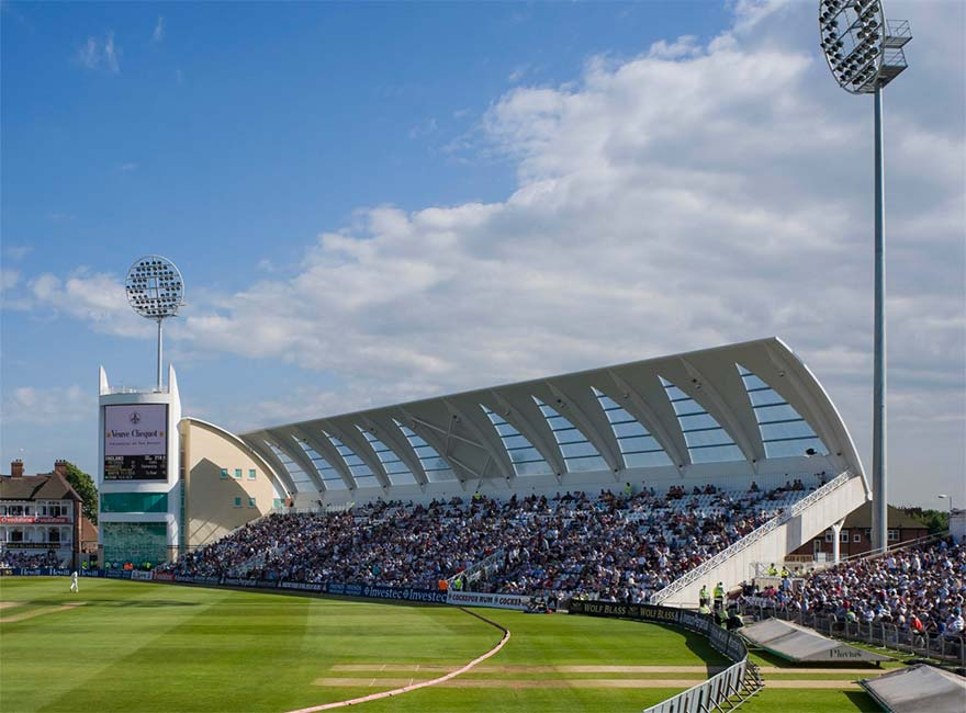 Hickton Construction cladding and roofing at Trent Bridge